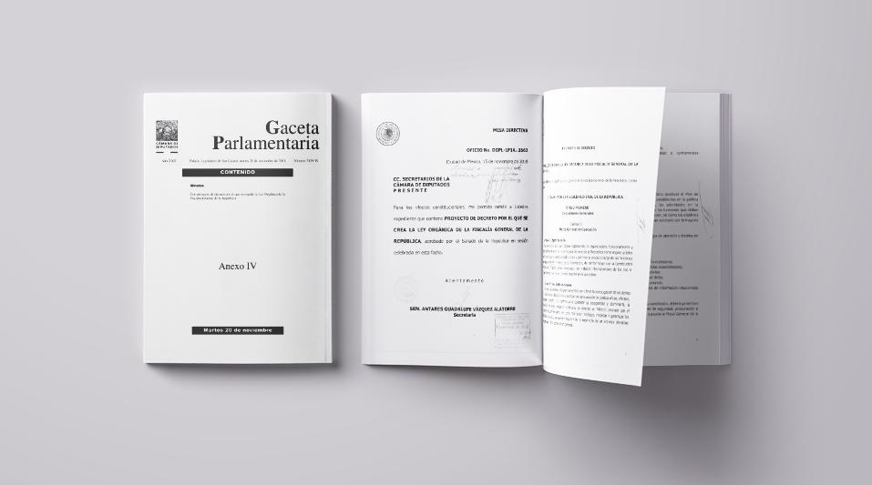 Proyecto de decreto por el que se expide la Ley Orgánica de la Fiscalía General de la República