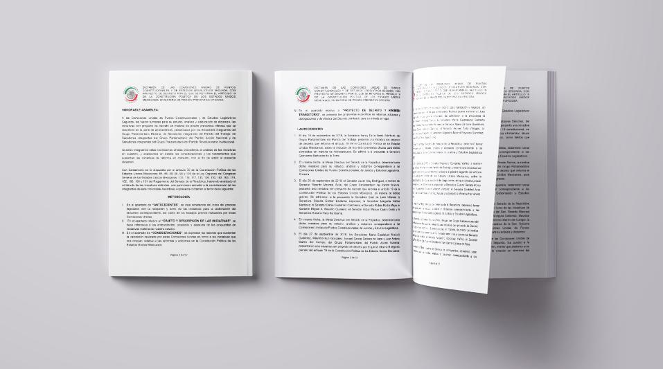 Proyecto de Decreto por el que se reforma el Artículo 19 de la Constitución Política de los Estados Unidos Mexicanos, en materia de prisión preventiva oficiosa