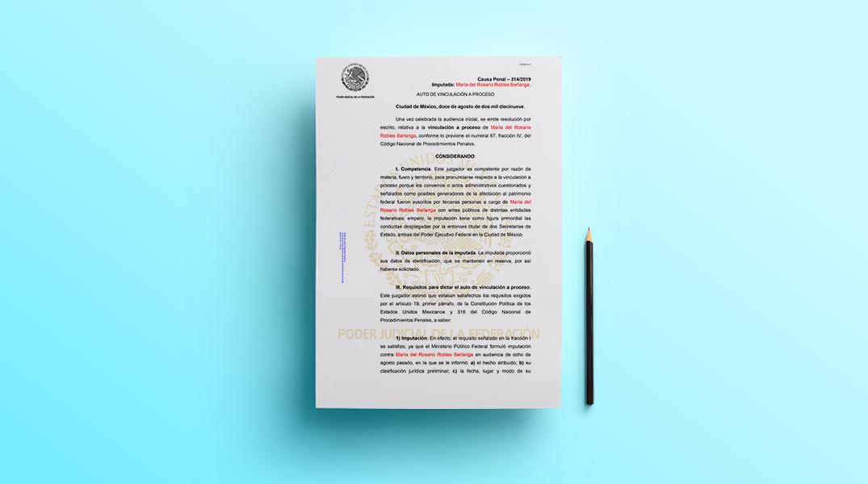 Auto de vinculación a proceso de Rosario Robles (PDF)